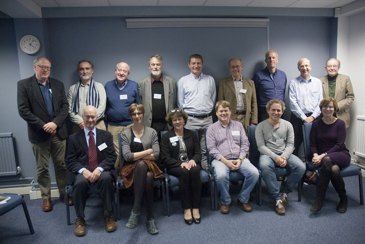 Members of the Research Committee, with the Board of Trustees and CEO Gill Hey